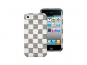 Zadní kryt na iPhone 4/4S - Eco-leather, Dama White