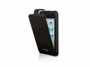 Pouzdro na iPhone 4/4S - PURO Flipper Case Vertical, Black