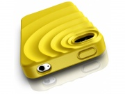 Zadní kryt na iPhone 4/4S - RIPPLE YELLOW - Musubo