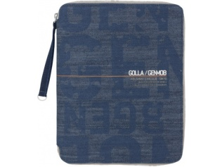 Obal na iPad, iPad 2, iPad 3, Air - Golla PUNCH - denim modrá