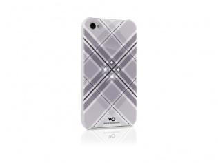 Zadní kryt na iPhone 4 4S - GRID - bílá šedá  b693f70ae45