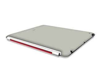 Zadní kryt na iPad 2 - Soft touch - šedý