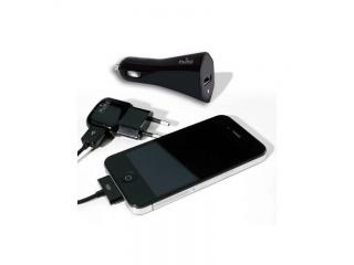 Cestovní set nabíječek pro iPhone / iPod - černý