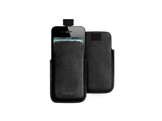 Kožené pouzdro na iPhone 4/4S - Slim Essential case, Black