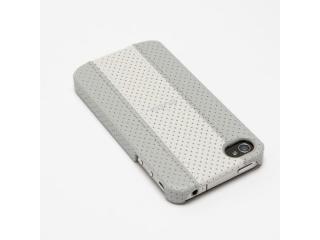 Zadní kryt na iPhone 4/4S - Puro Golf Cover, bílá/šedá
