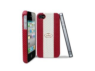 Zadní kryt na iPhone 4/4S - Puro Golf Cover, bílá/červená