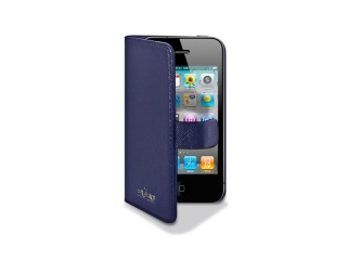 Pouzdro na iPhone 4/4S - PURO Booklet Case, Blue