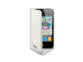 Pouzdro na iPhone 4/4S - PURO Booklet Case, White