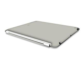 Zadní kryt na iPad 2 / iPad 3 - Back covers - šedá