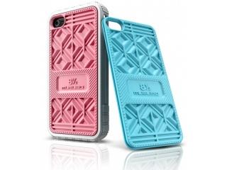 Zadní výměnné kryty na iPhone 4/4S - SNEAKER ROSE+BABY BLUE - Musubo