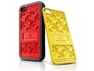 Zadní výměnné kryty na iPhone 4/4S - SNEAKER RED+YELLOW - Musubo