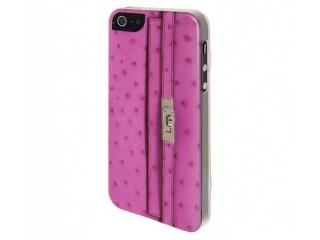 Zadní kryt na iPhone 5 - Peněženka - růžová