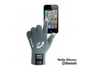 Dotykové rukavice s připojením bluetooth, velikost M, šedé
