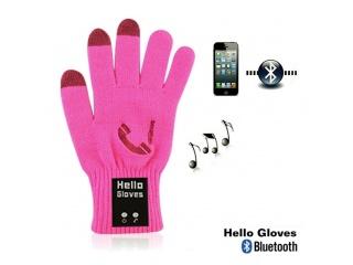 Dotykové rukavice s připojením bluetooth, velikost M, růžové