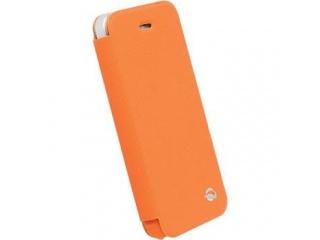 Pouzdra na iPhone 5/5S/5C typ Book, oranžové