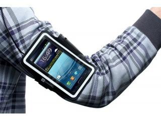 Sportovní pouzdro na paži Connect It pro telefony s dotykovým displejem, černá