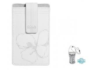 Stylové pouzdro na iPhone + DÁREK vodotěsné pouzdro, bílé