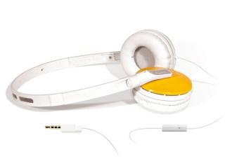 Stereo headset pro chytré telefony, žlutá