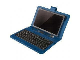 """Pouzdro s klávesnicí pro tablet 7"""", konektor micro USB, modré"""