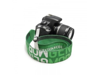 Designový popruh na zrcadlovky SNAP- camera strap, zelený