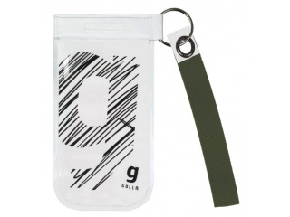 GOLLA univerzální pouzdro na mobil s poutkem a průhledným okýnkem, bílo-šedé
