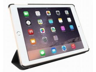 Puro polohovací flipové pouzdro Business pro iPad 6, leštěná kůže, šedá