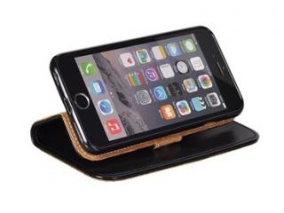 Book Special iPhone 7 Plus pravá kůže černá