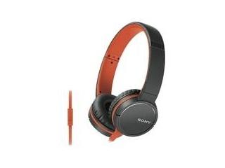 Sony MDR-ZX660AP, oranžová náhlavní sluchátka řady ZX s ovladačem na kabelu