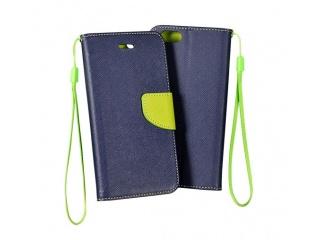 obal typu knížka iPhone 4/4S navy/lime