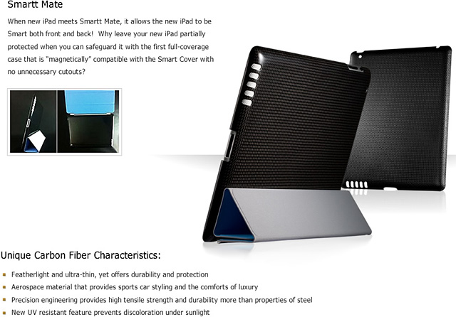 monCarbone - Smartt Mate case for iPad 3/4